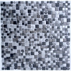 Aluminium mosaic kitchen Trendy Gris