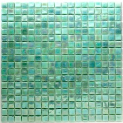 Bathroom shower in glass mosaic Rainbow Vert
