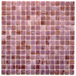 Glass mosaic shower vitro rose