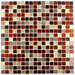 Glass mosaic bathroom shower Gloss Tuno