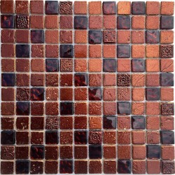 Splashback kitchen mosaic Metallic Marron