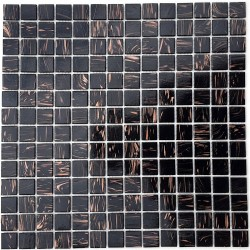 Glass mosaic bathroom Vitro Noir