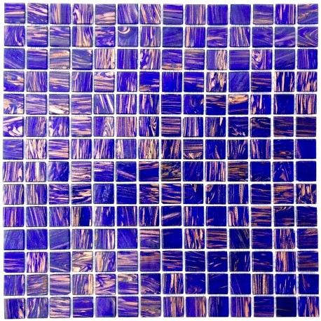 Glass mosaic shower Vitro Violet