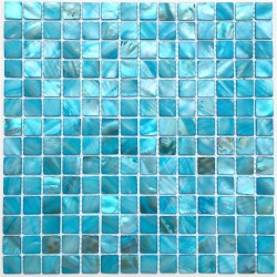 Mother of Pearl mosaic Bathroom Odysse Bleu