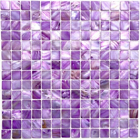 Mother of pearl mosaic bathroom shower Odyssee Violet