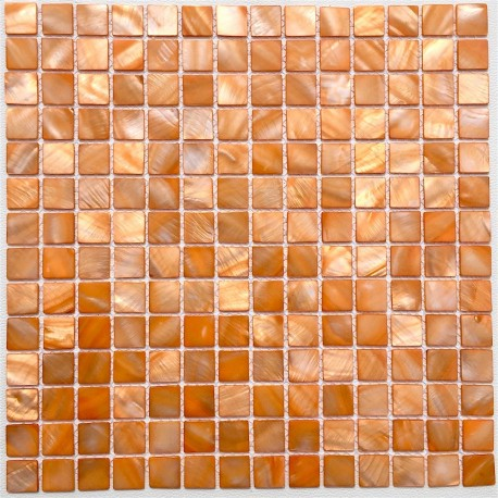 Bathroom mother of pearl mosaic Odyssee Orange