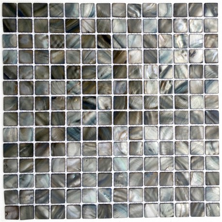 Mother of pearl mosaic bathroom shower Odyssee Gris