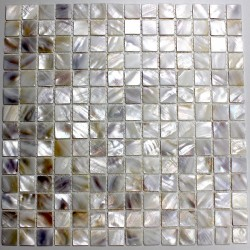 Mother of pearl mosaic bathroom Odyssee Blanc