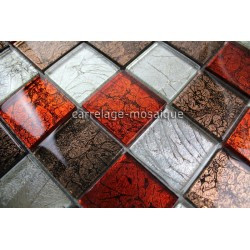 sample glass mosaic for floor shower wall bathroom Lux Rouge