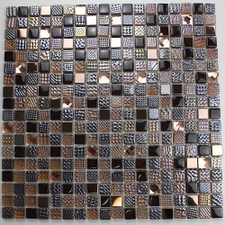Bathroom mosaic in glass Inesse