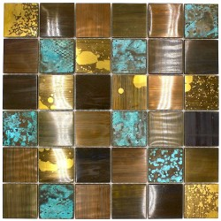 Stainless steel mosaic splashback kitchen Velvet
