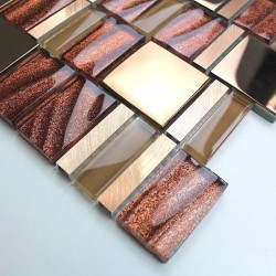glass mosaic for shower and bathroom Glit sample