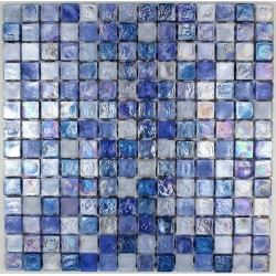 Glass mosaic Zenith bleu for bathroom shower