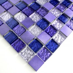 mosaic sample for splashback kitchen Nomade Violet
