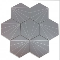 Cement tiles patchwork Fyler Gris