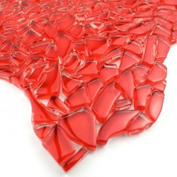 Sample mosaic in glass Osmose Rouge