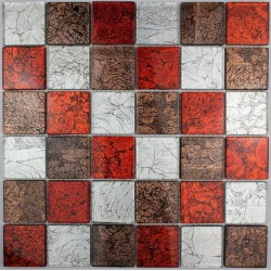 Gass mosaic for bathroom Lux Rouge