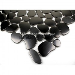 Sample stainless steel mosaic kitchen Galet Noir