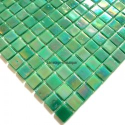 Glass mosaic sample italian shower Rainbow Jade