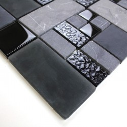 Mosaic black color for shower Sample Shadow