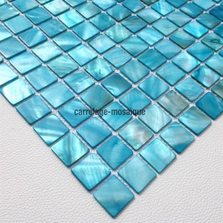 Mother of pearl mosaic sample odyssee bleu