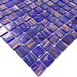 Glass mosaic sample for italian shower vitro violet