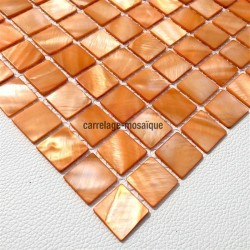 Mother of pearl mosaic sample Odyssee Orange