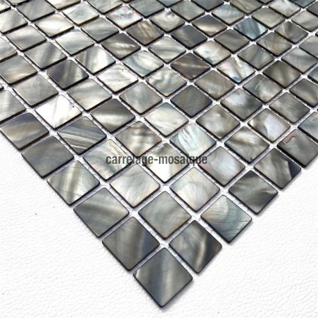 Mother of pearl mosaic sample Odyssee Gris