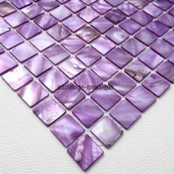 Mother of pearl mosaic sample Odyssee Violet