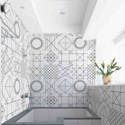 Cement tile Geomtric Line kitchen bathroom