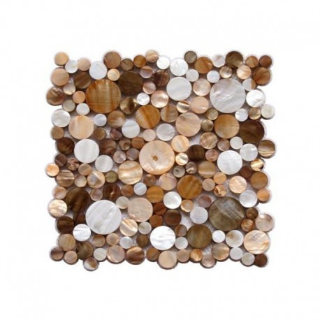 Mother of pearl mosaic sample Redondo Marron