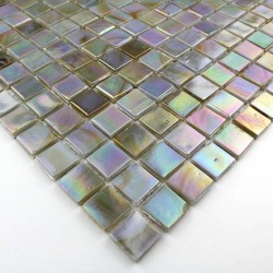 Glass mosaic sample shower Rainbow Perle