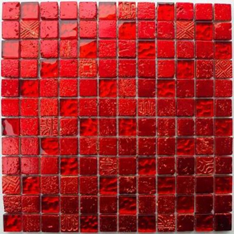 Bathroom mosaic shower mosaic Glass ant stone Metaliic Rouge