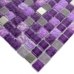 sample glass mosaique for shower Harris Violet