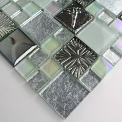 sample glass mosaic for floor and wall shower model Cenovo