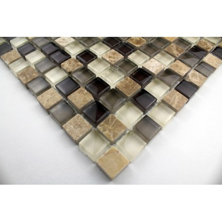 Maggiore sample mosaic bathroom in glass with stone