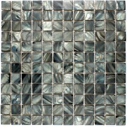 Mother of pearl mosaic Shower Nacre 23 Noir