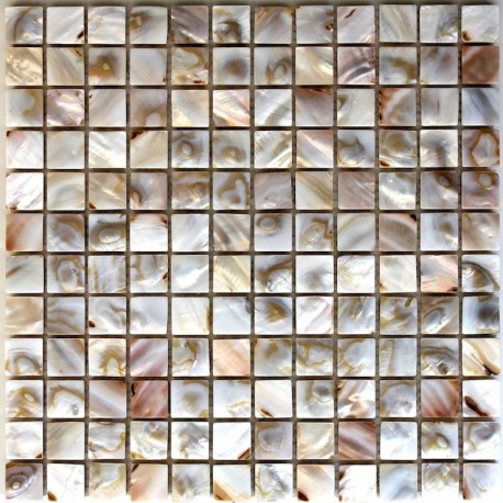 Mother of pearl mosaic shower Nacre Naturel
