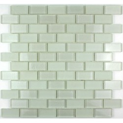 Shower mosaic in glass Kera Brick