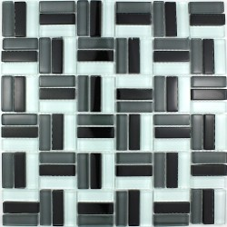 Sheet glass mosaic City noir mosaic bathroom