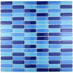 Glass mosaic bathroom Sky rectangular