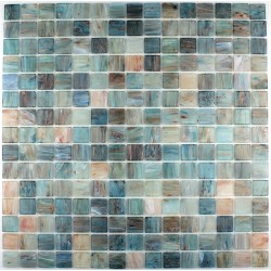 Glass mosaic Goldline turquoise bathroom shower