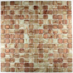 Glass mosaic bathroom shower Goldline Senois