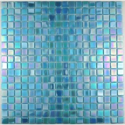 Bathroom shower mosaic Rainbow Azur