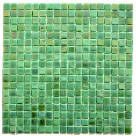 Bathroom mosaic in glass Rainbow Jade