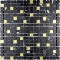 bathroom andshower mosaic Nero Gold