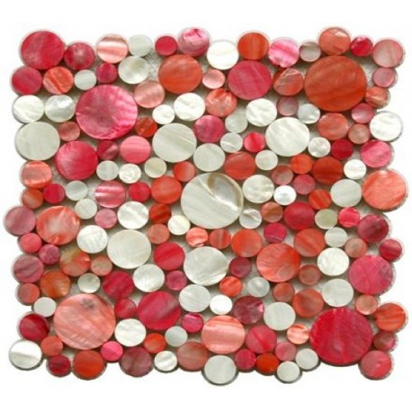 Mother of pearl mosaic shower Redondo Rouge