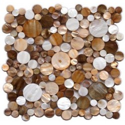 Mother ofpearl mosaic bathroom Redondo marron