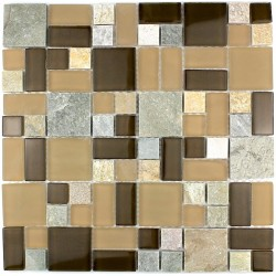 Bathroom mosaic Thema Marron shower mosaic
