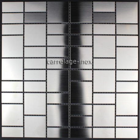 Stainless steel mosaic bathroom Argos